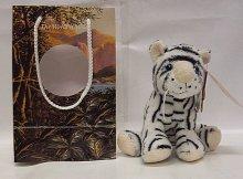 Bílý tygr Divoké zvířátko v tašce % 234