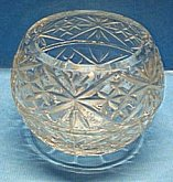 Dóza /Váza/Svícen 3 v 1 skleněná koule křišťálo...