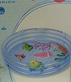 Bazén vodní živočichové průhledný modrý 3 komor...