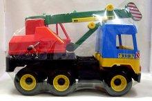 Autojeřáb na písek velké plastové auto funkční