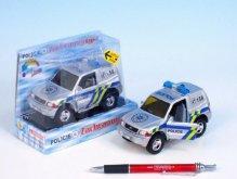 Auto Mitshubishi policie kov 12cm na zpětné nat...