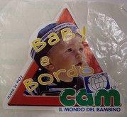 """Samolepka """" Dítě v autě - Baby a Bordo Cam """""""