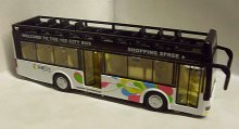 Autobus patrový City Bus kovový svítící zvukový...