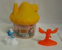 Domeček pro Šmouly + 2 figurky plastový