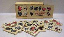 Domino dřevěné Zvířátka pana Milera v dřevěné k...