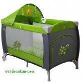 Cestovní postýlka Coto baby Samba LUX zelená Green