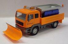 Auto nákladní údržba silnic sypač soli a shrnov...
