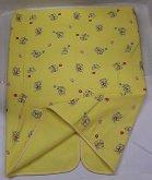 Deka fleesová na kočárek žlutý medvídek