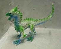 Drak děsivý plastový figurka Modro zelený