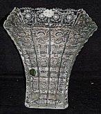 Váza křišťálová hranatá skleněná...