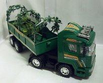Armádní auto vojenské s tankem a...