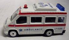 Auto kovové Sanitka Ambulance model malá bílá 7...