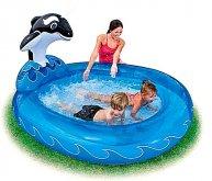 Bazén Orca s vodotryskem nafukovací Novinka