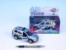 Auto Volvo policie kov 14cm na zpětné natažení ...