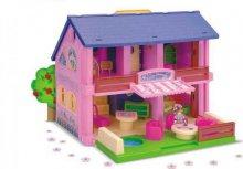 Dům růžový s příslušenstvím Stavebnice pro holč...