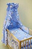 Souprava do postýlky textilní 4 dílná Měsíc modrý
