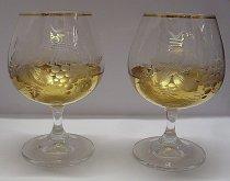 Souprava přátelská skleničky brandy sada 2 kusy...