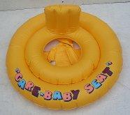 Baby kruh žlutý nafukovací pro nejmenší se sedá...
