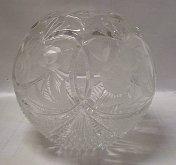 Váza koule broušená křišťálová skleněná speciál...