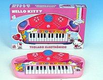 Dětské piáno na baterie Hello Kitty pianko 25 k...
