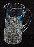 Džbán velký křišťálový broušený skleněný exklus...