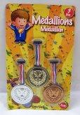 3 Medaile plastové set - zlatá, stříbrná a bron...