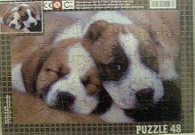 Puzzle deskové papírové Pejsci dva spící štěňat...