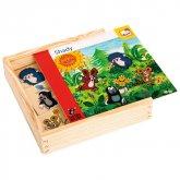 Dřevěná krabice Krtek - Co kam p...