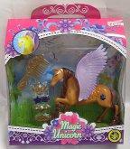 Jednorožec Kůň koník svítící s česací hřívou na...