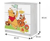 BabyBoo Dětská komoda - Medvídek...