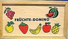 Domino dřevěné ovoce