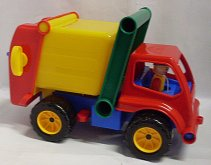 Auto popeláři velká s panáčkem plastové