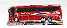Autobus zájezdový červený plastový