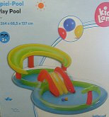 Bazén hrací dvoudílný nafukovací s fontánou, sk...