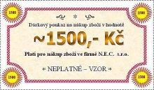 Dárková poukázka na hodnotu 1500 Kč