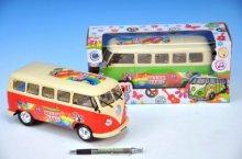 Autobus Peace plast 23cm narážecí na baterie se...