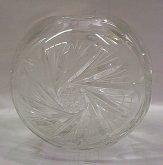 Váza koule skleněná O405 křišťál...
