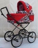 Kočárek Livorno Max velká kola červený