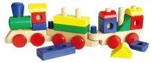 Dřevěný vlak dlouhý Max barevný pro nejmenší