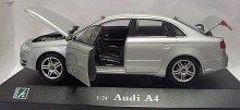 Audi A4 kovový model auta v měřítku 1:24