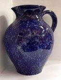 Džbán velký keramický modrý lux baňatý