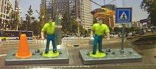 Záchranáři 2 figurky se značkou a kuželem plast