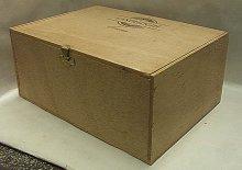 Dřevěná bedýnka skříňka s víkem ...