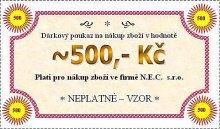 Dárková poukázka na hodnotu 500 Kč