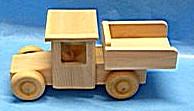 Dřevěné auto kamion nákladní přírodní dřevo