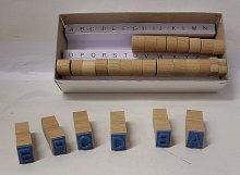 Dřevěná Písmena razítka od A po Z - písmena 10 ...