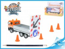Auto nákladní kovové cestáři udržba silnic zvuk...