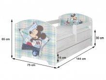 BabyBoo Dětská postel 140 x 70cm...