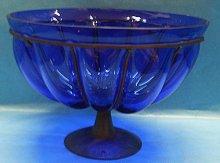 Mísa široká Modré sklo historická jako ze střed...