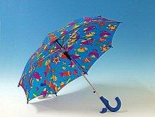Deštník dětský s píšťalkou pestrý